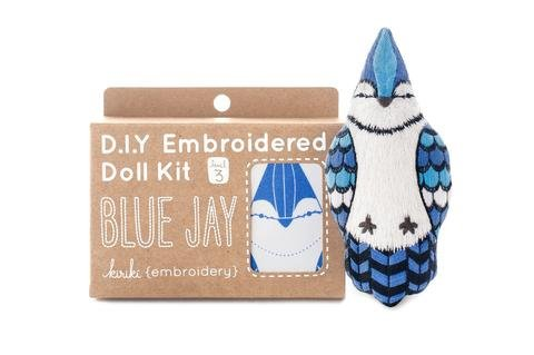 Embroidery Kit Doll Blue Jay Kiriki Press