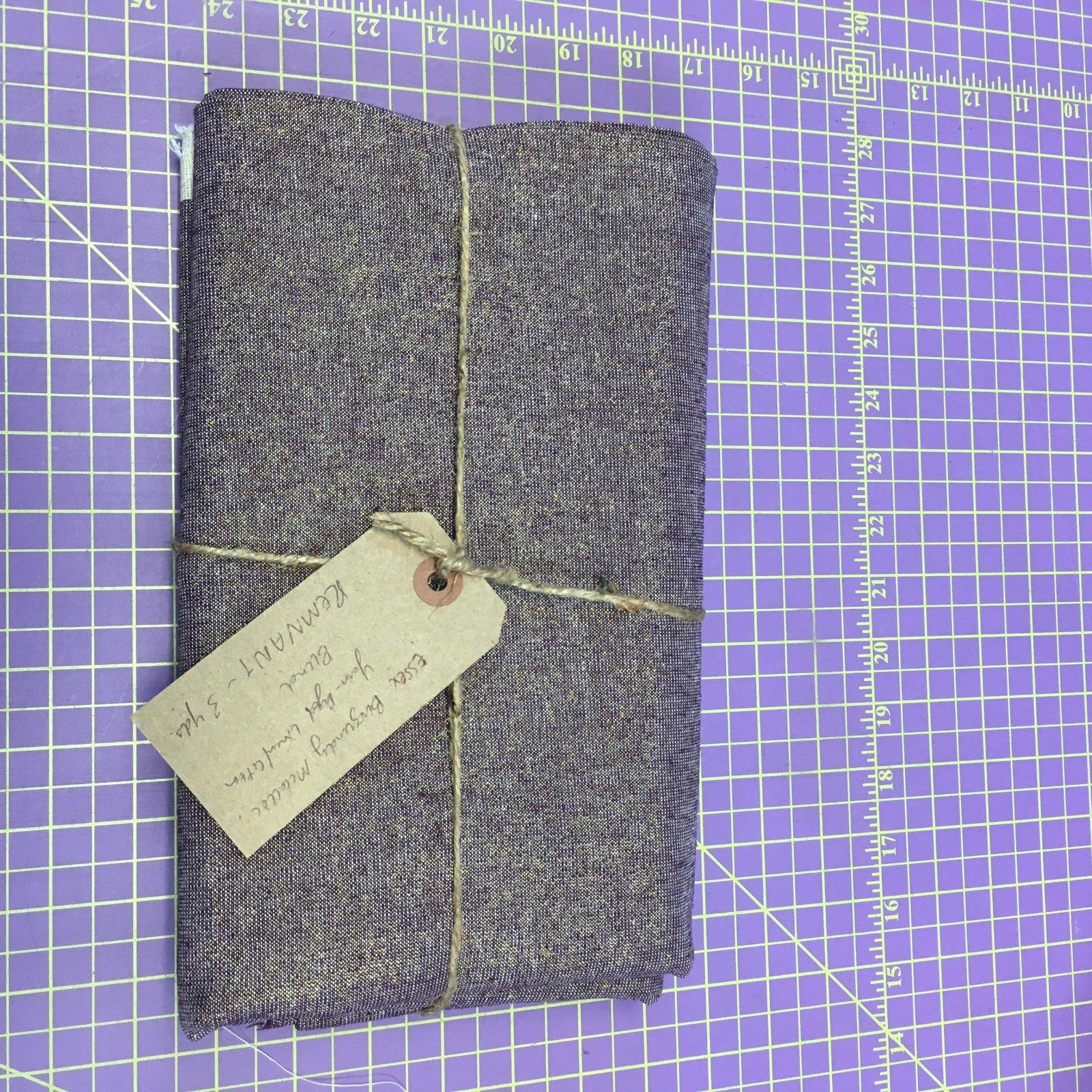 Fabric Essex Burgundy Metallic Yarn-Dyed Linen/Cotton Blend REMNANT - 3 Yards