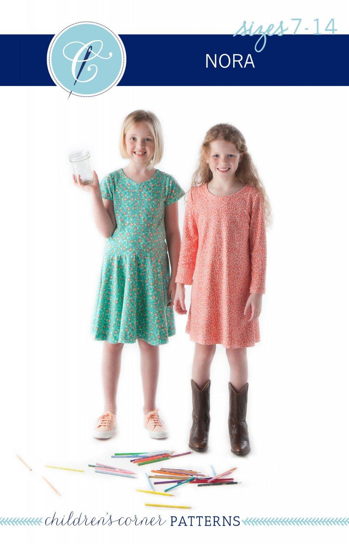 Pattern Nora Girl's Dress - Sizes 7-14 - Children's Corner