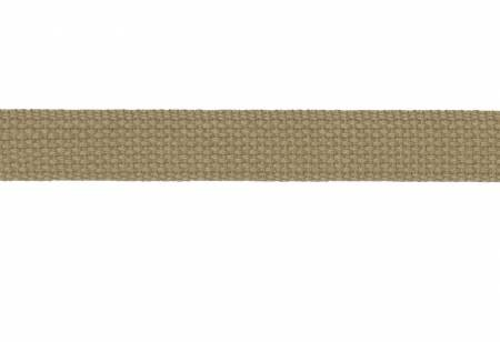 Trim Cotton Webbing 1in Tan by the yard