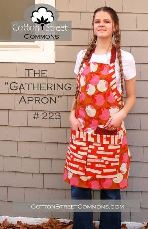 Pattern Gathering Apron Cotton - Street Commons