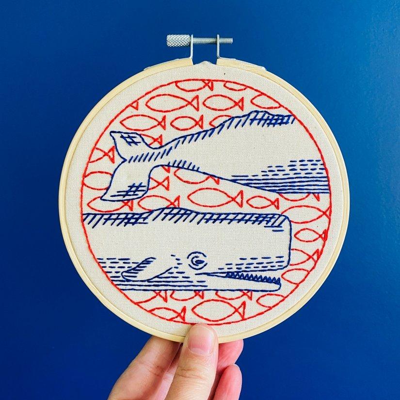 Embroidery Kit - Deep Dive - Hook, Line & Tinker