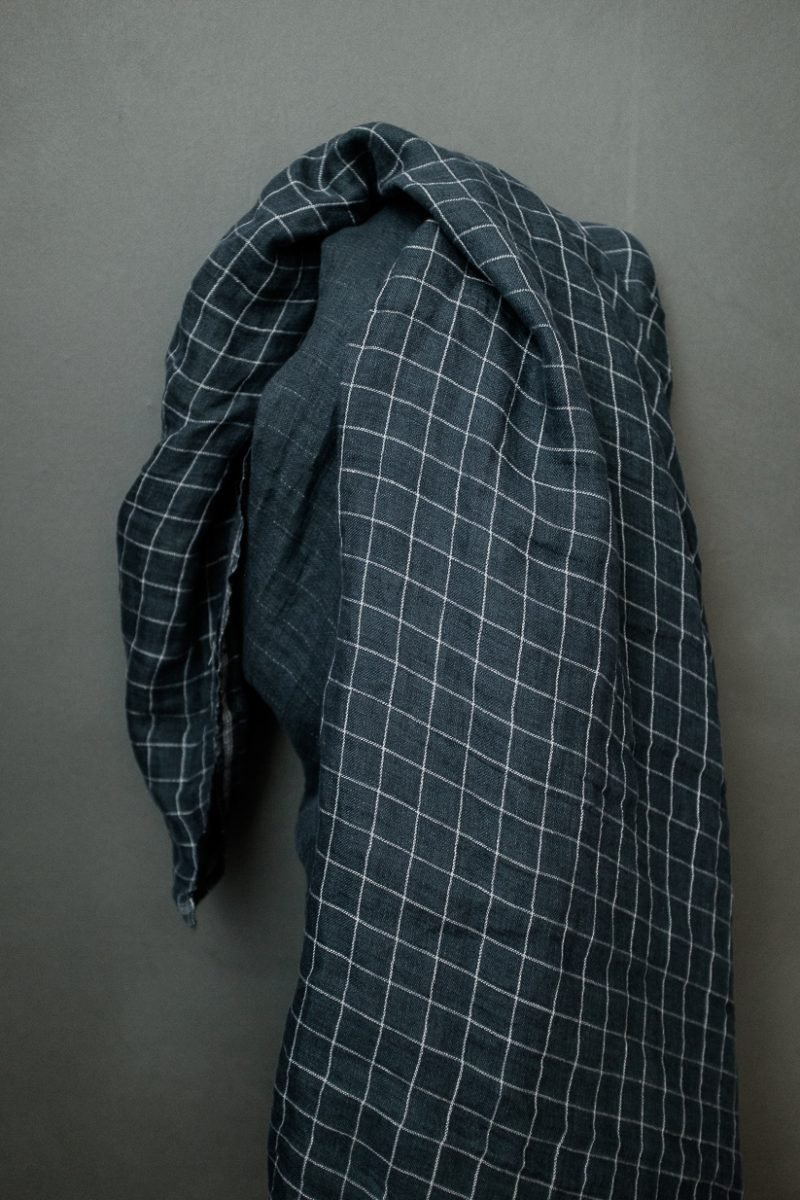 Reversible Heavy Doubleweave Linen, Blue
