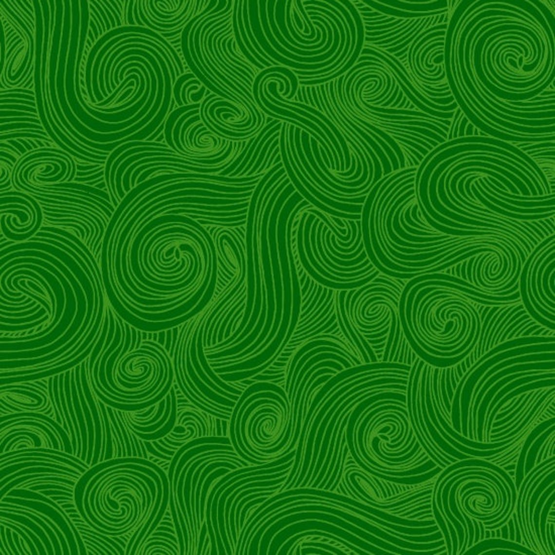 Fabric Green Swirl REMNANT