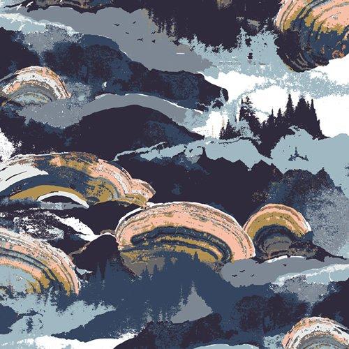 Fabric Rayon Gaia Eventide