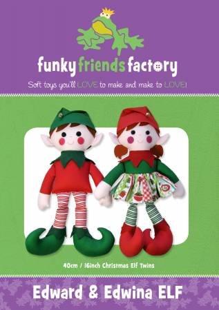 Pattern Edward and Edwina Elf Toy - Funky Friends Factory
