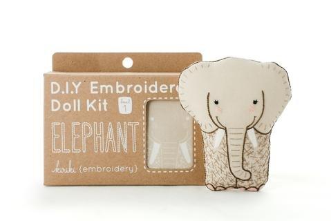 Embroidery Kit Doll Elephant Kiriki Press