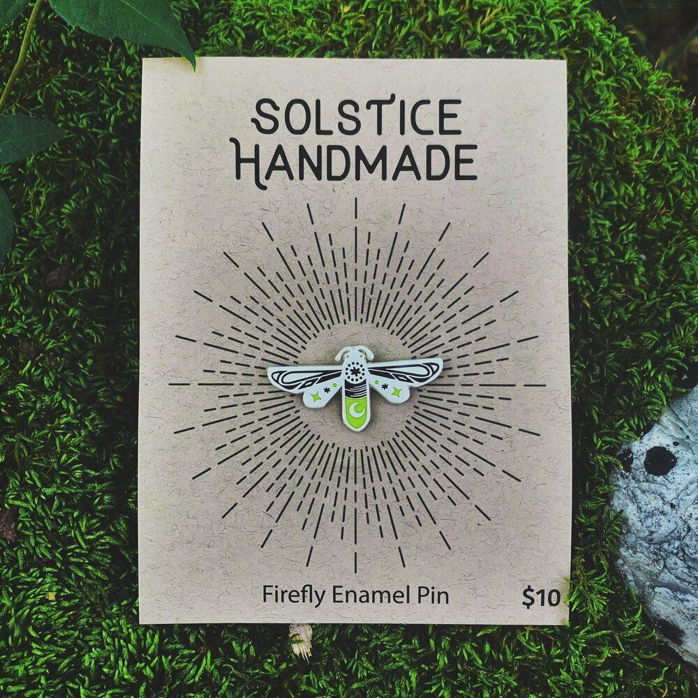 Pin Firefly Solstice Handmade