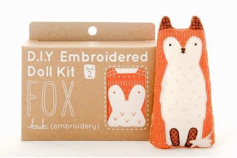 Embroidery Kit Doll Fox Kiriki Press