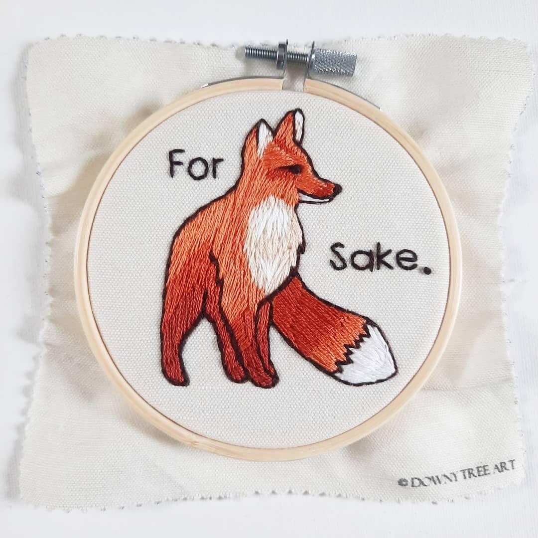 Embroidery Kit - For Fox Sake