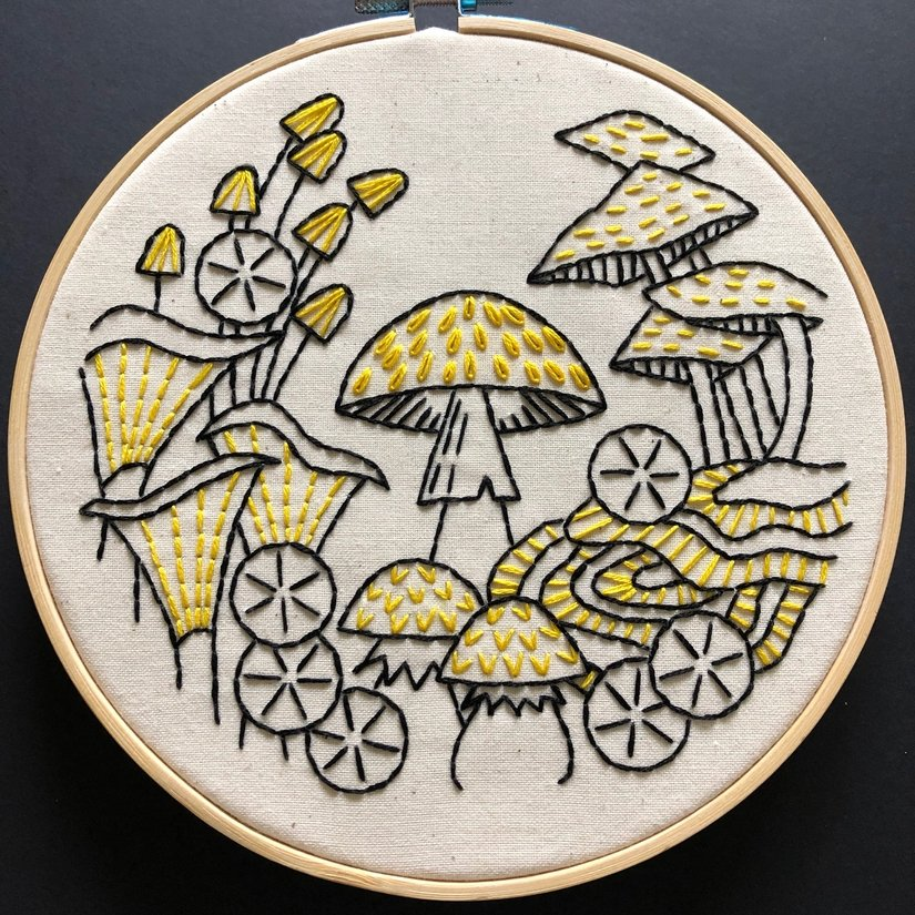Embroidery Kit - Fungus Among Us - Hook, Line & Tinker