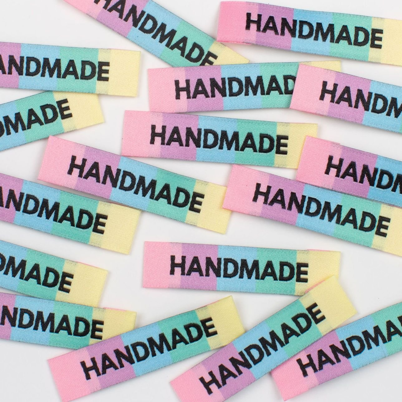 Garment Labels - HANDMADE Rainbow