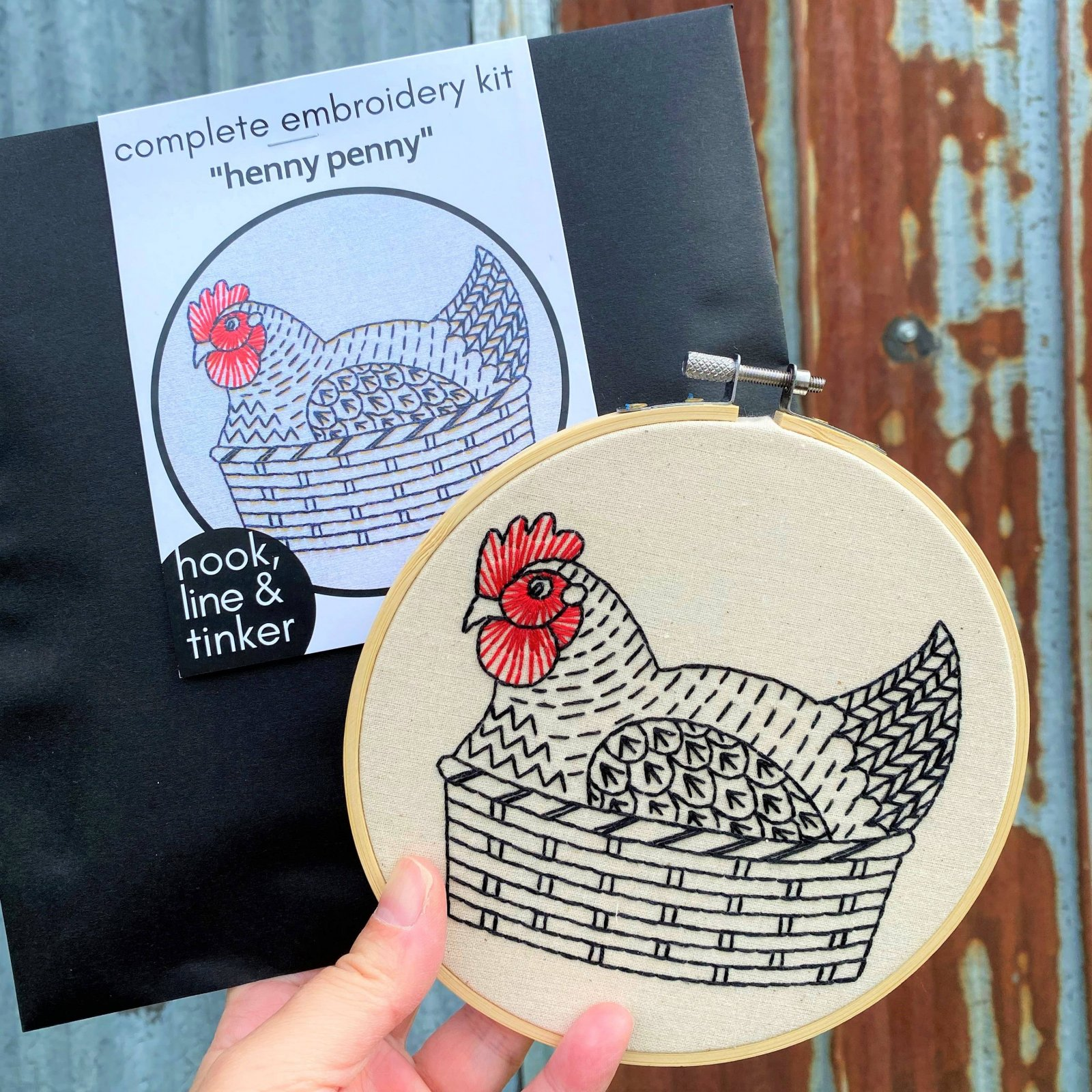 Embroidery Kit - Henny Penny - Hook, Line & Tinker