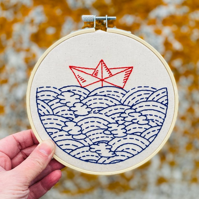 Embroidery Kit - Hope Floats My Boat - Hook, Line & Tinker