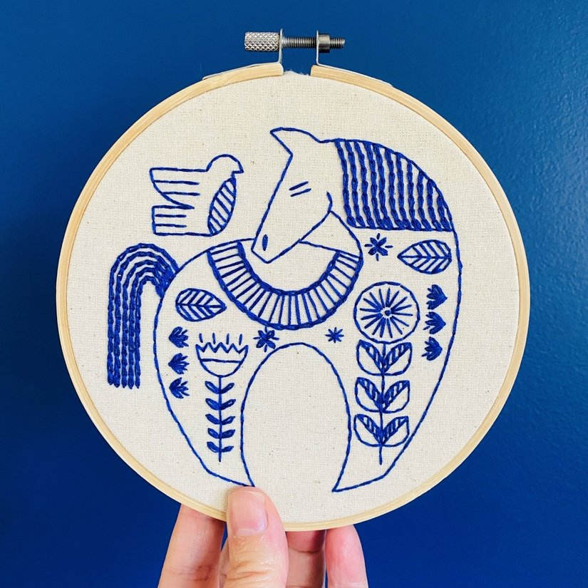 Embroidery Kit - Hygge Horse - Hook, Line & Tinker