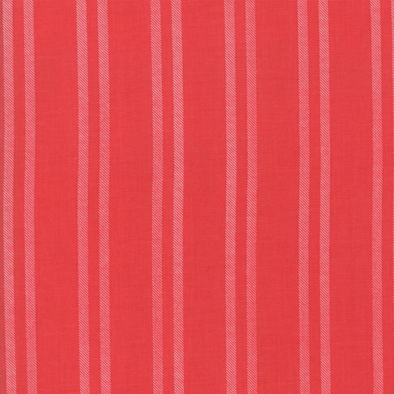 Fabric Little Tree Christmas Collection - Bright Red Stripe
