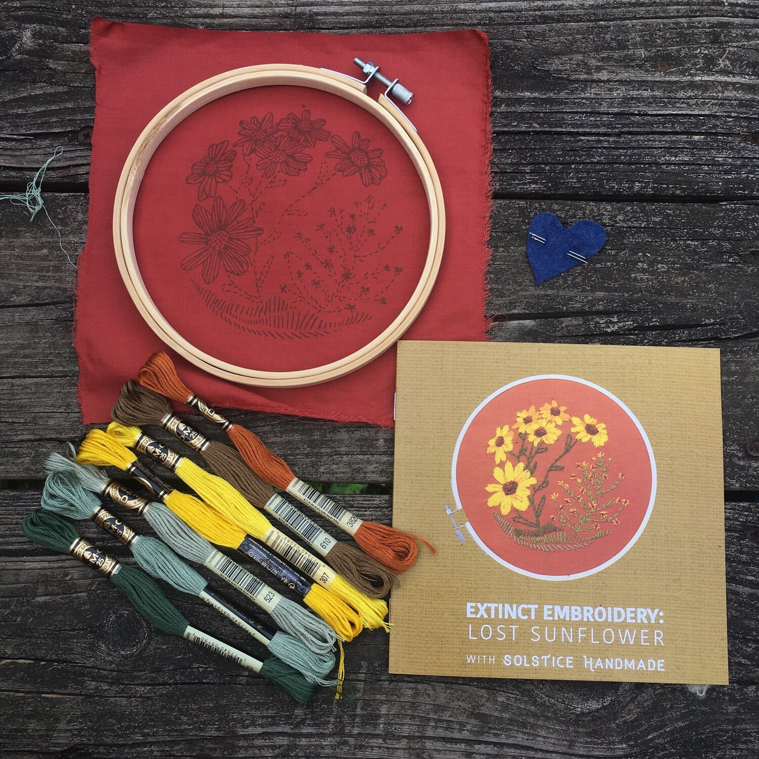 Embroidery Kit - Solstice Handmade - The Lost Sunflower