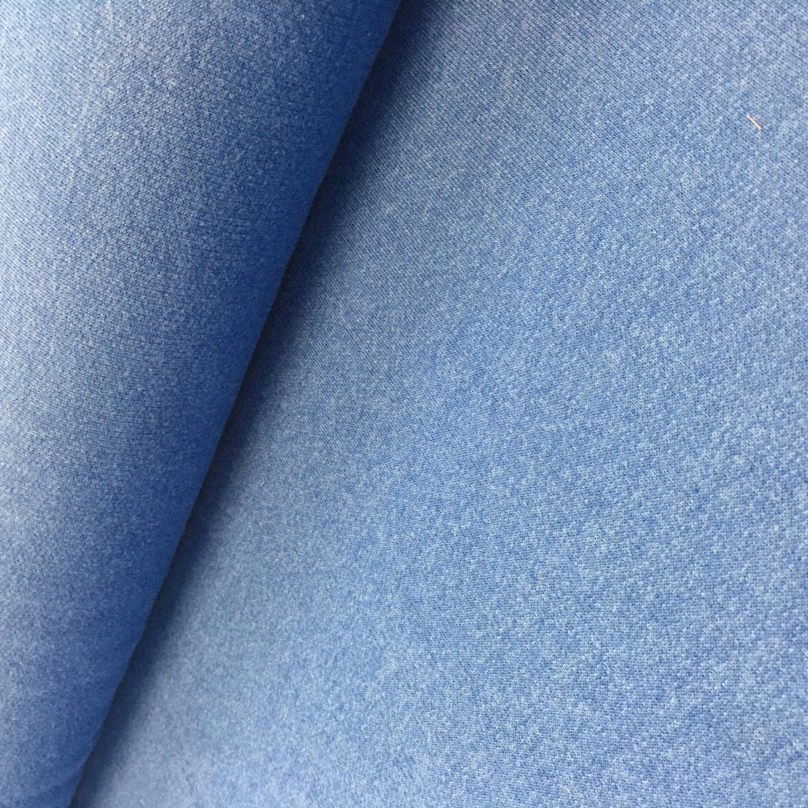 Fabric French Terry Blue REMNANT 1.5 Yds