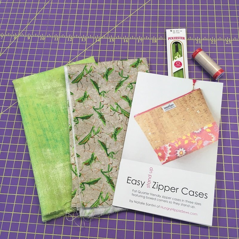 Easy Zip Pouch - Green Praying Mantis Complete Maker's Kit