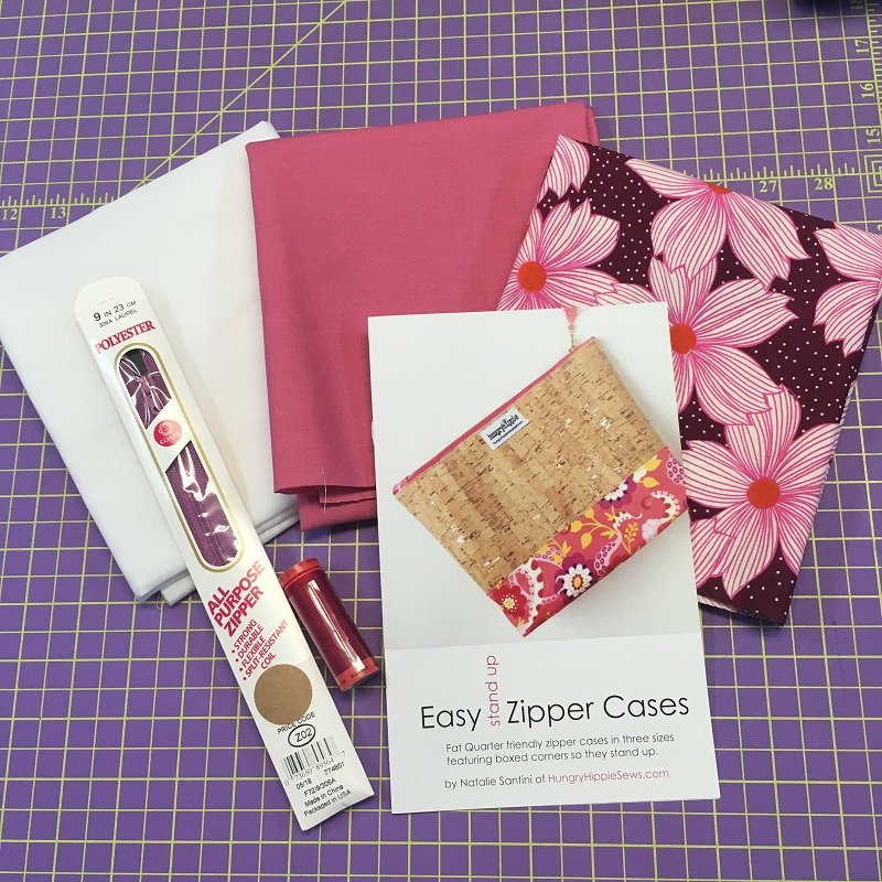 Easy Zip Pouch - Pink Floral Complete Maker's Kit