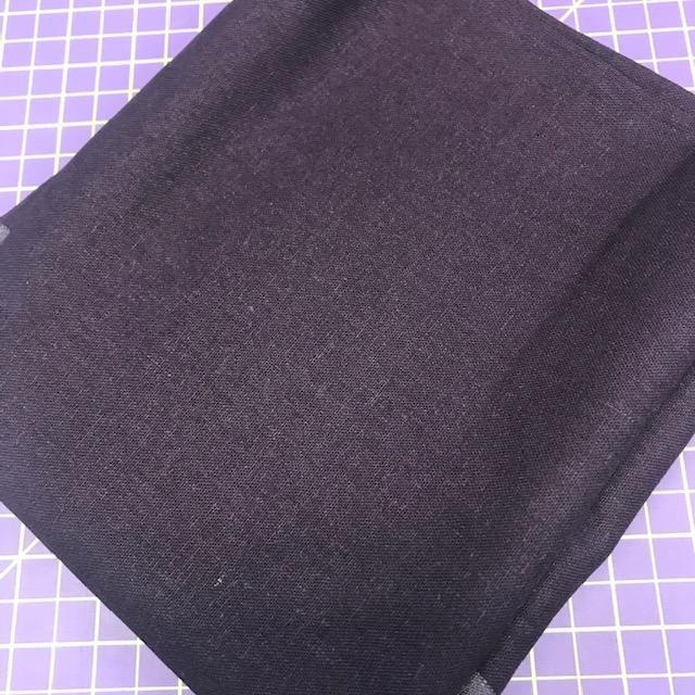 Fabric Brussels Washer Dark Purple REMNANT 1 Yard