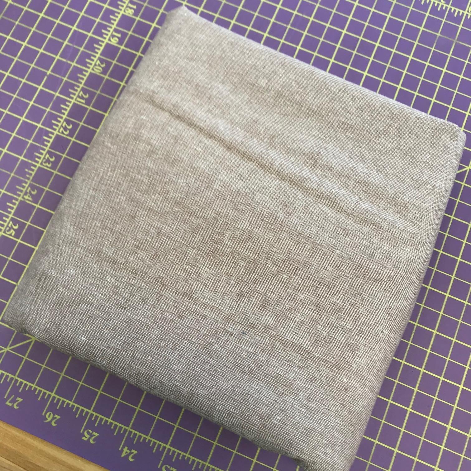 Fabric Essex Yarn Dyed Mocha 2 3/4 Yards REMNANT