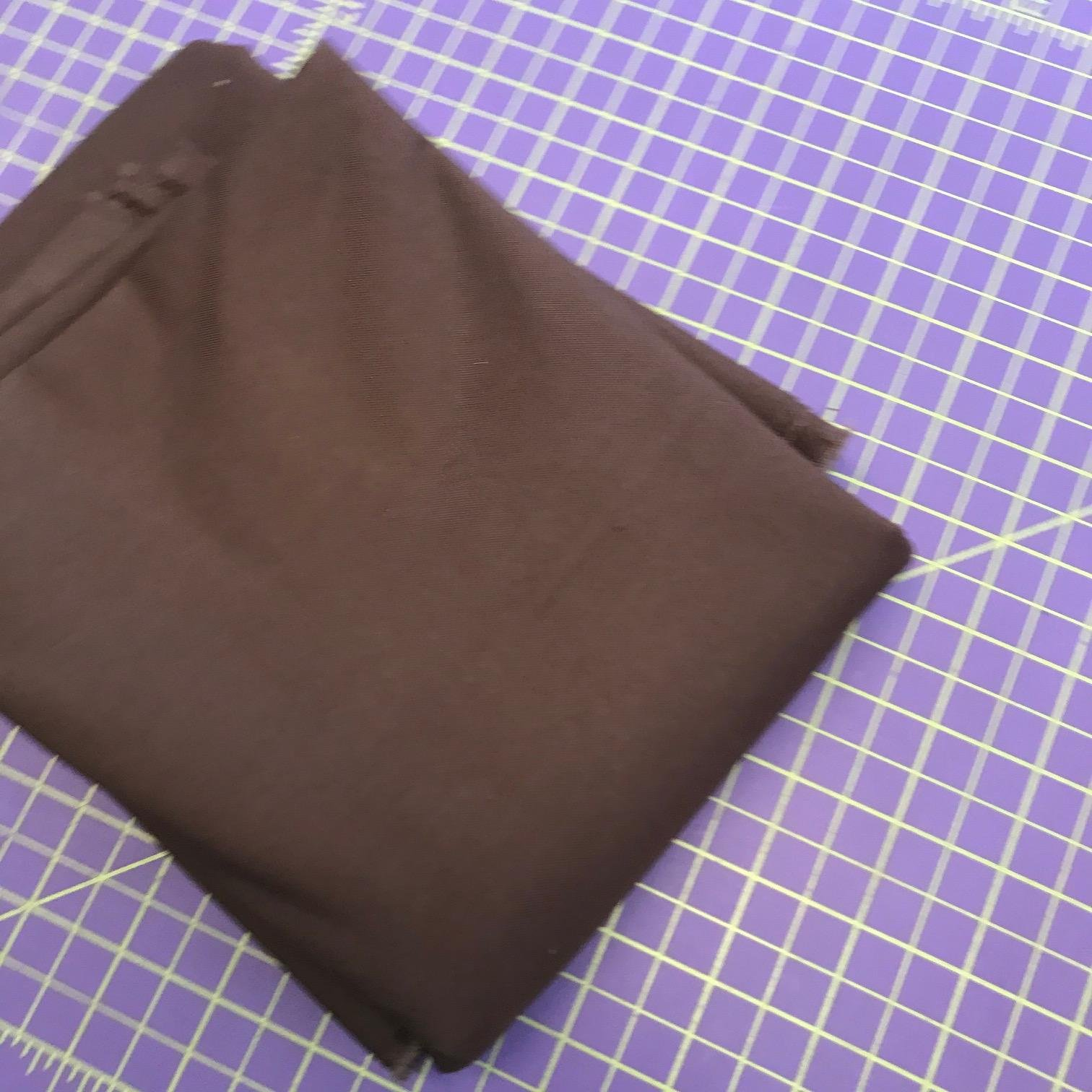 Bella Solid Chocolate REMNANT 2 2/3rd Yards