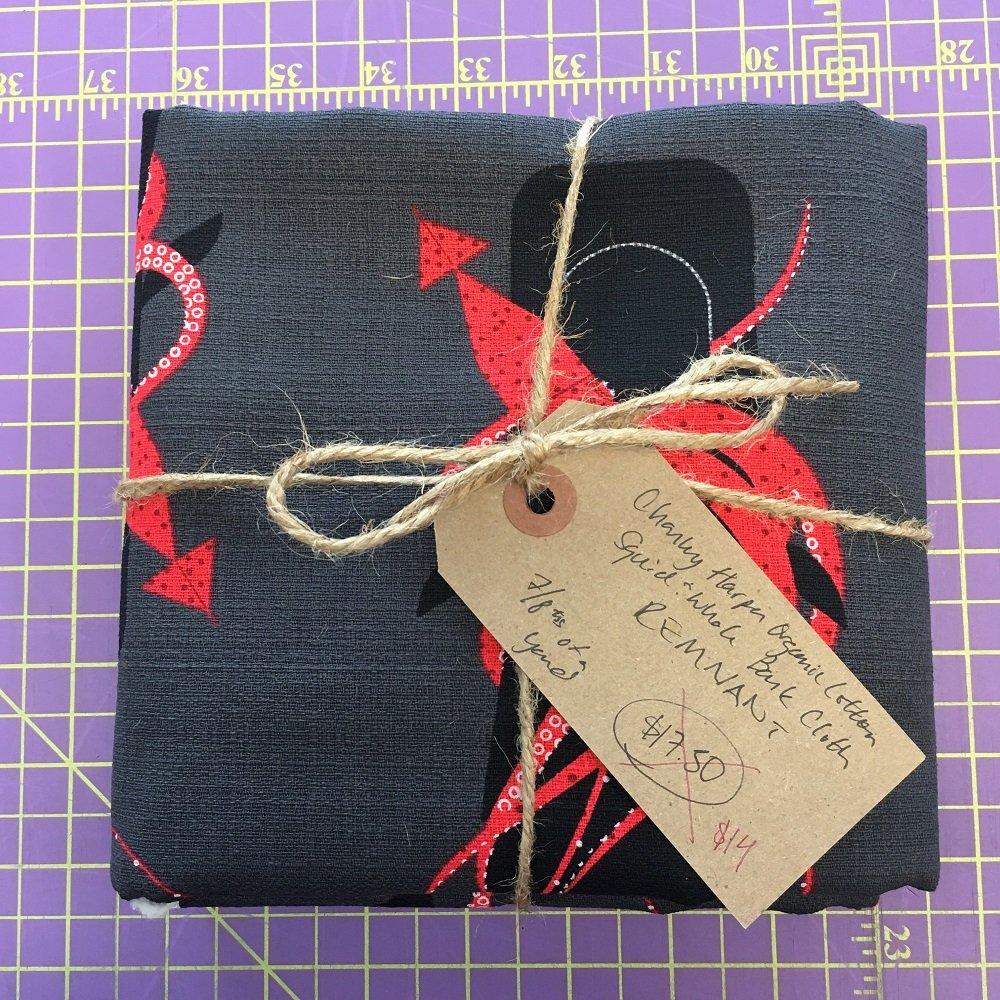 Charley Harper Squid & Whale Organic Cotton Barkcloth REMNANT - 7/8ths Yard