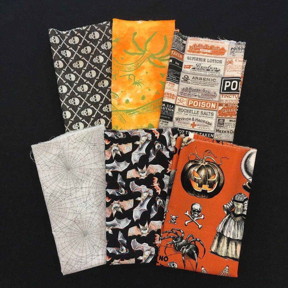 SEAMS Exclusive Halloween Fat Quarter Bundle - Tricks!