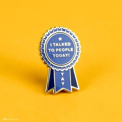 Pin Introvert Award Enamel Pin