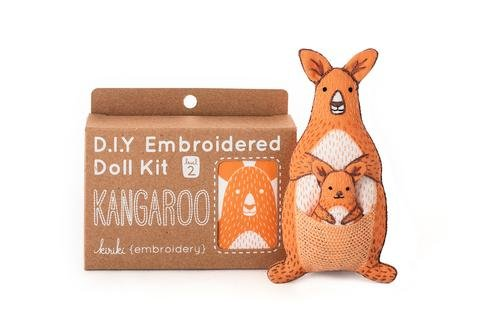 Embroidery Kit Doll Kangaroo Kiriki Press