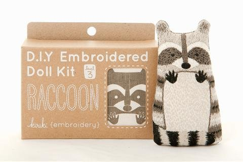 Embroidery Kit Doll Raccoon Kiriki Press