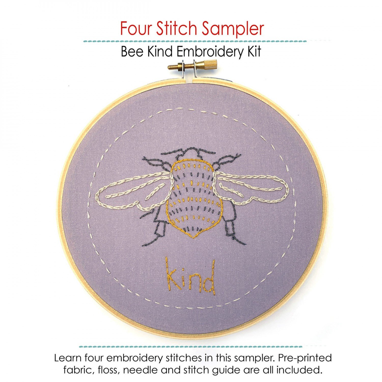 Embroidery Kit - Bee Kind
