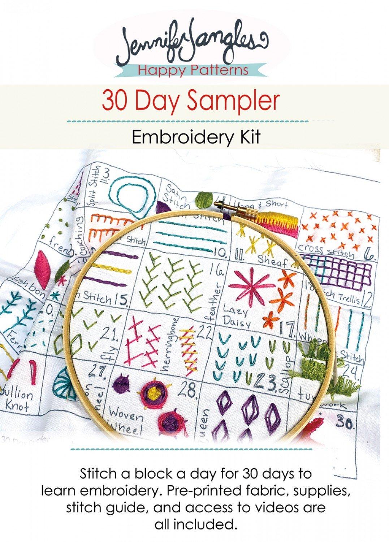 Embroidery Kit 30 Day Sampler