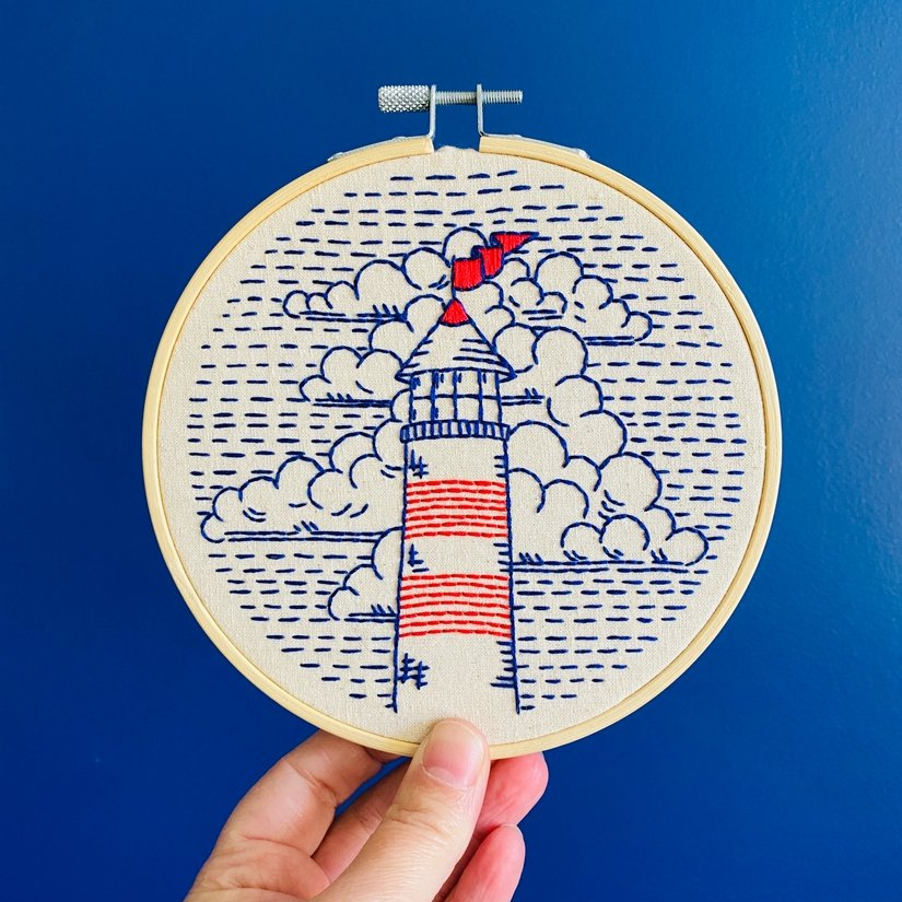 Embroidery Kit - Lighthouse - Hook, Line & Tinker