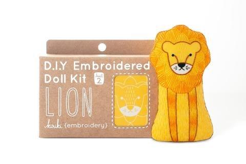 Embroidery Kit Doll Lion Kiriki Press