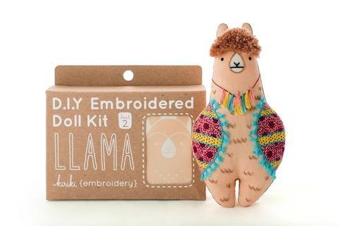 Embroidery Kit Doll Llama Kiriki Press