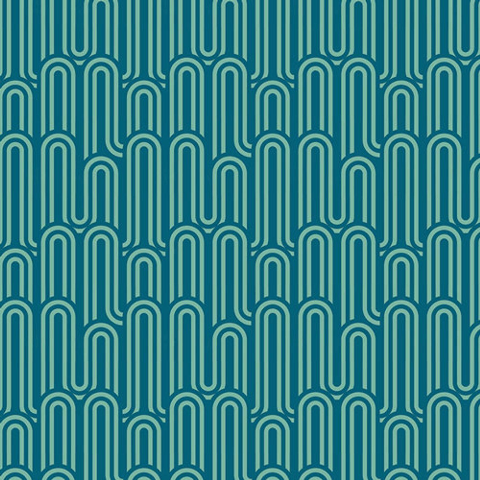 Fabric Lucid Hills Jade Voile Art Gallery