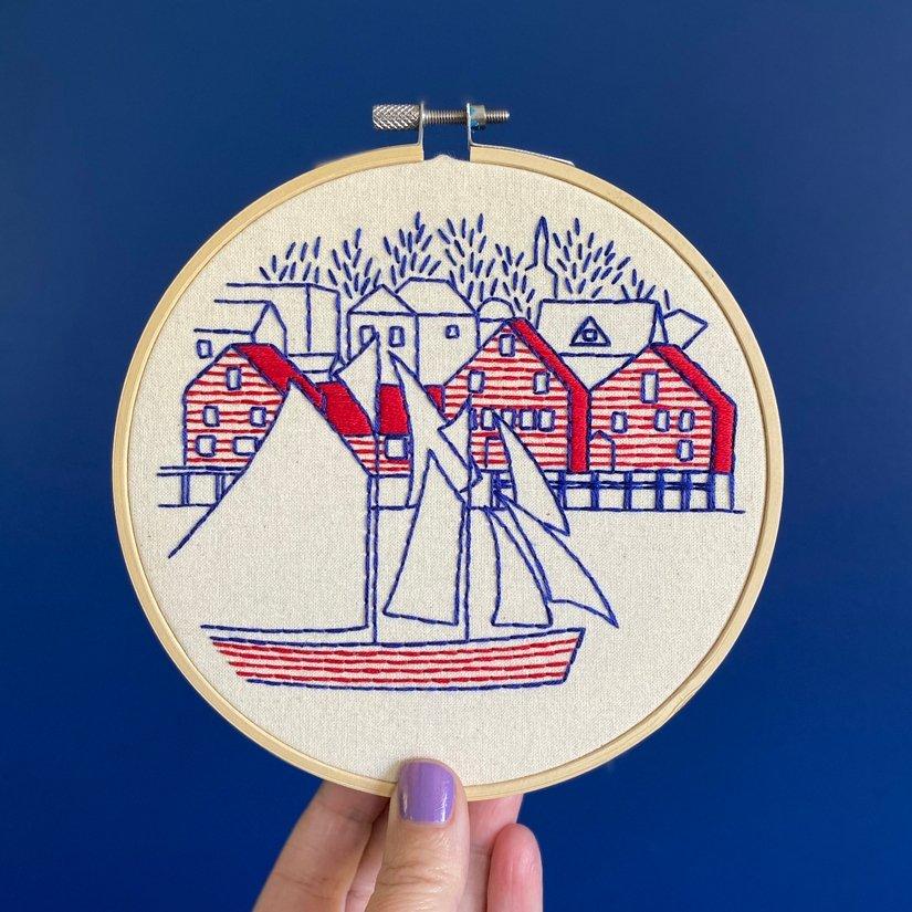 Embroidery Kit - Lunenburg - Hook, Line & Tinker