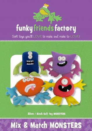 Pattern Mix and Match Monsters Toys -  Funky Friends Factory