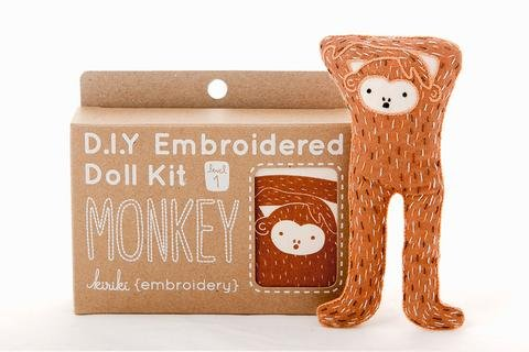 Embroidery Kit Doll Monkey Kiriki Press