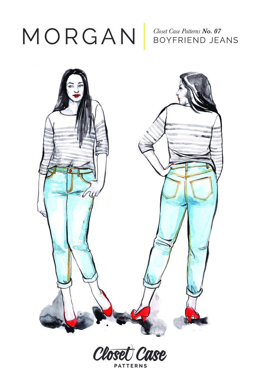 Pattern Morgan Boyfriend Jeans - Closet Core