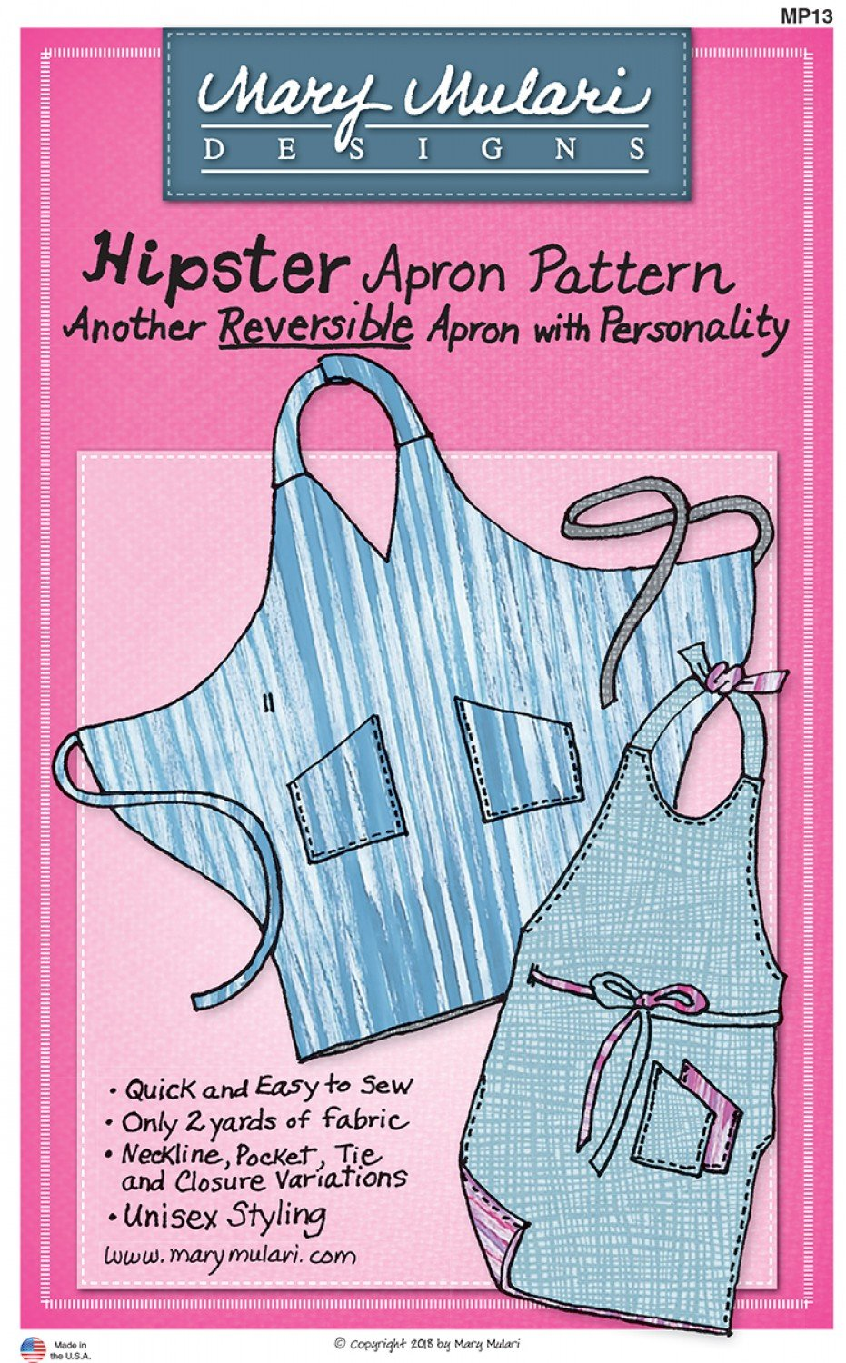 Pattern Hipster Apron