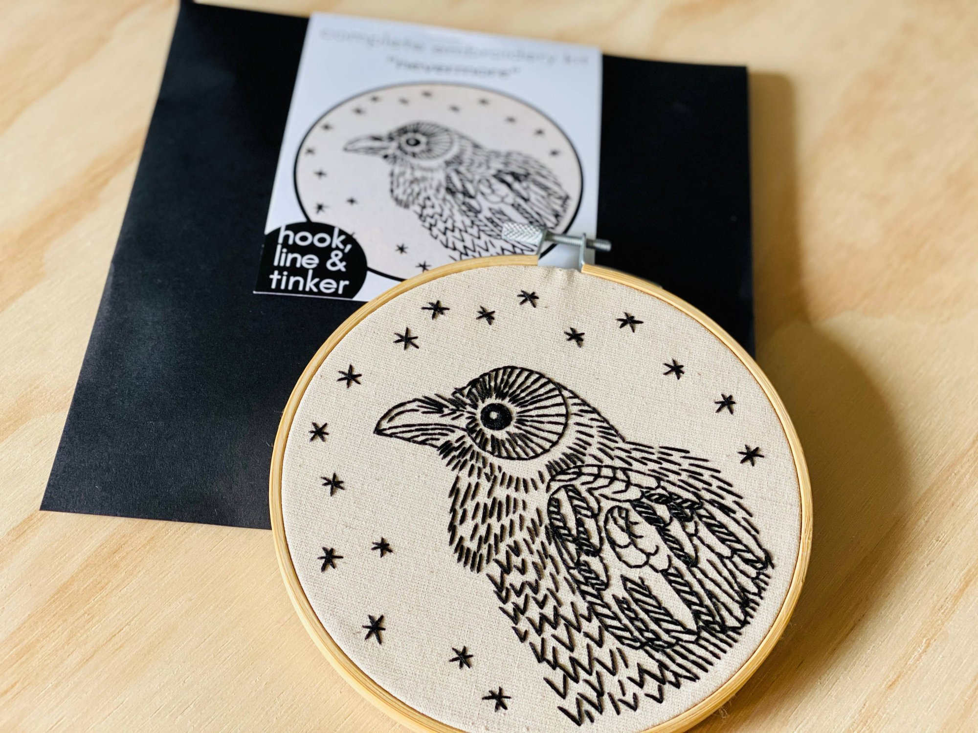Embroidery Kit - Nevermore - Hook, Line & Tinker