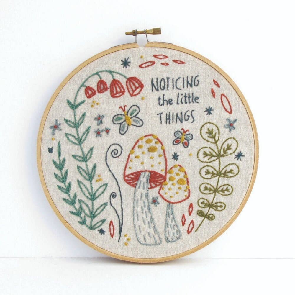 Kit budgiegoods Noticing the Little Things  Embroidery