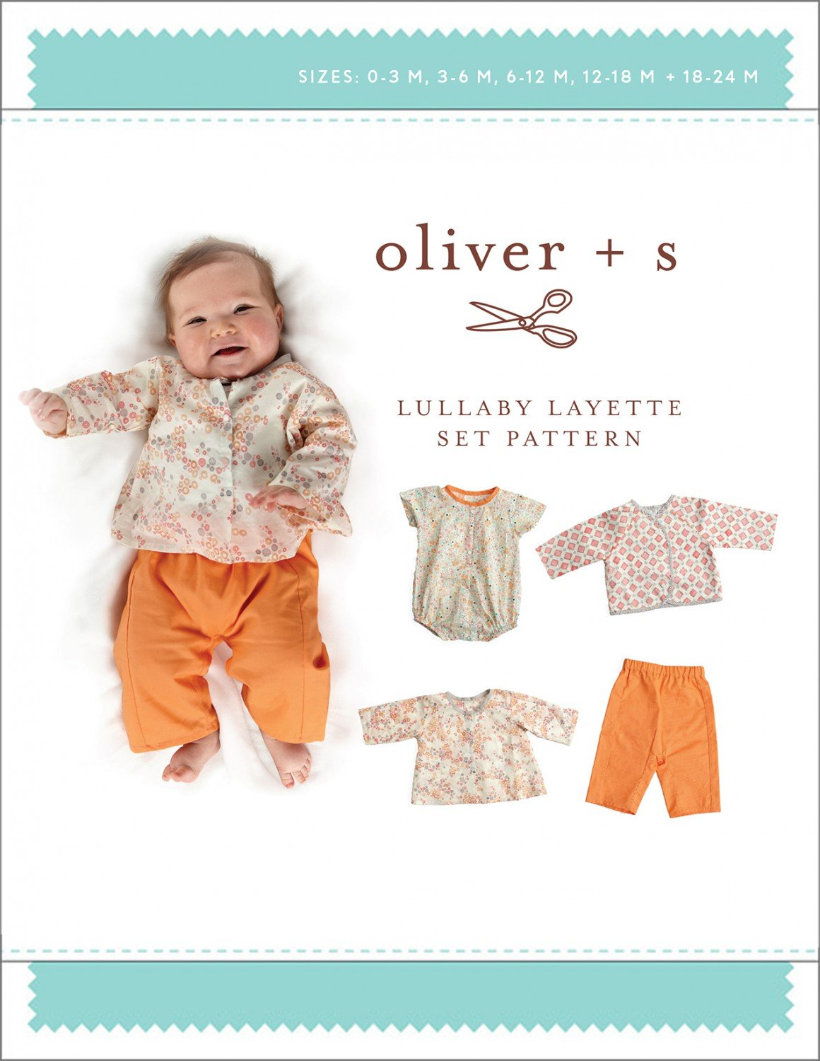 Pattern Lullaby Layette Baby Clothing Set - Olive + S