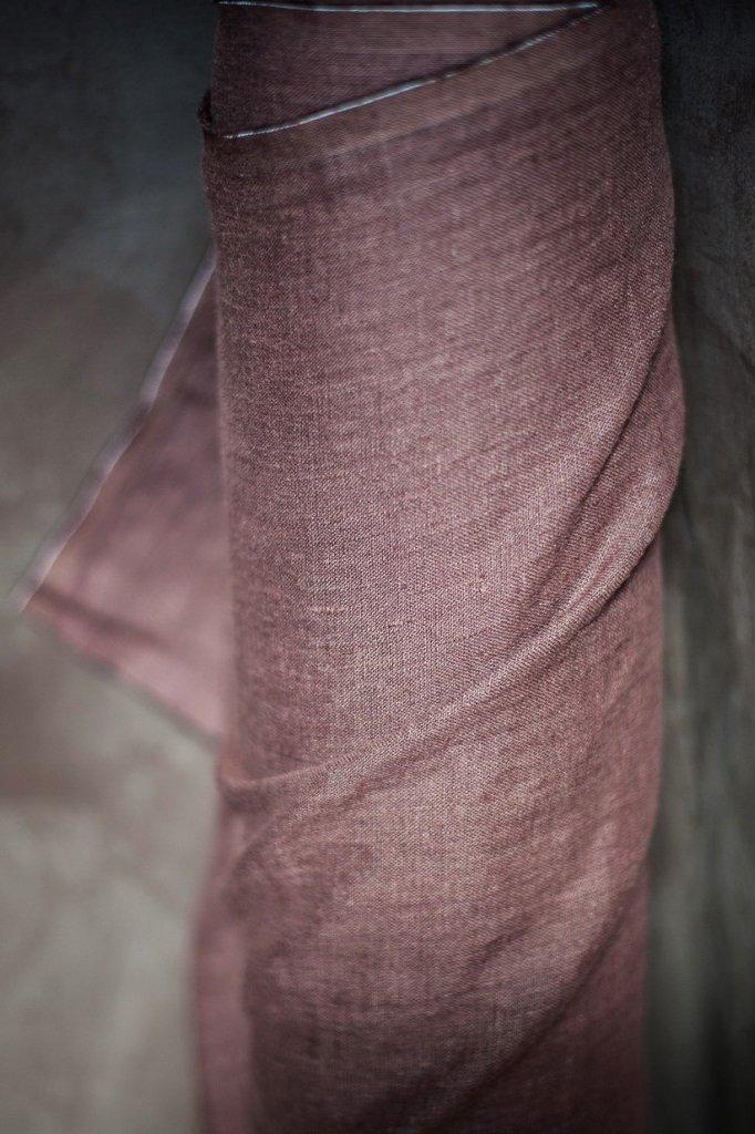 Fabric Oxblood Brown 185 European Linen - Merchant & Mills