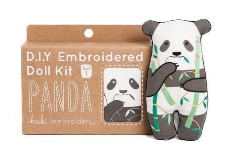 Embroidery Kit Doll Panda Kiriki Press