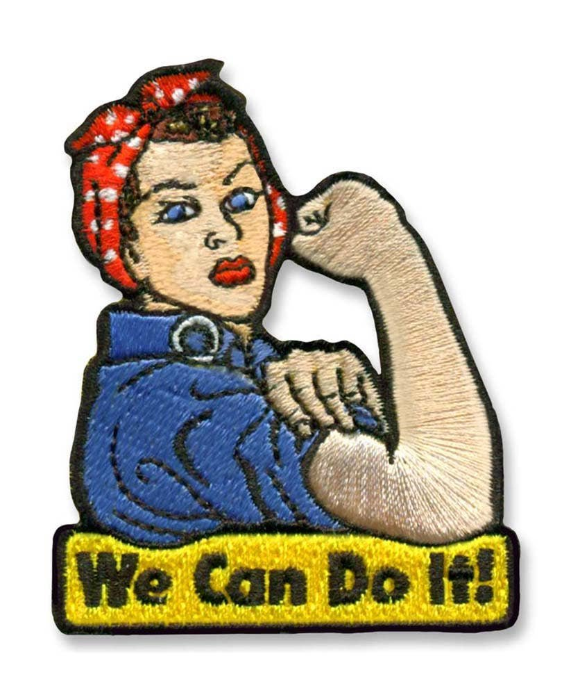 Patch Rosie We Can Do It Iron-on
