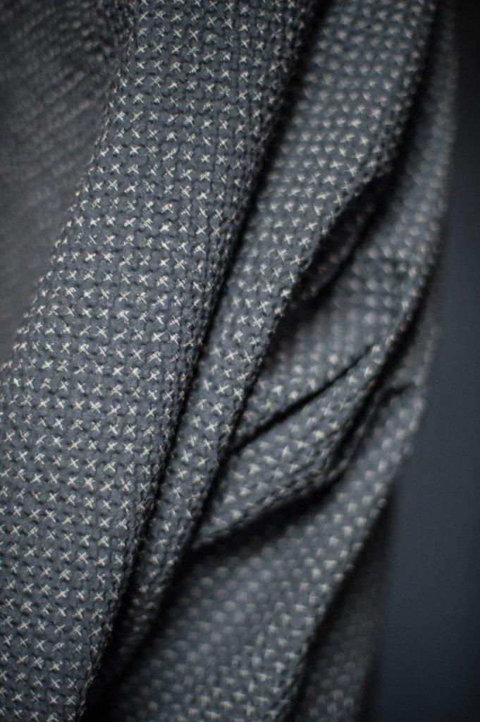 Fabric Tottorri Cross Japanese Seersucker Black - Merchant & Mills
